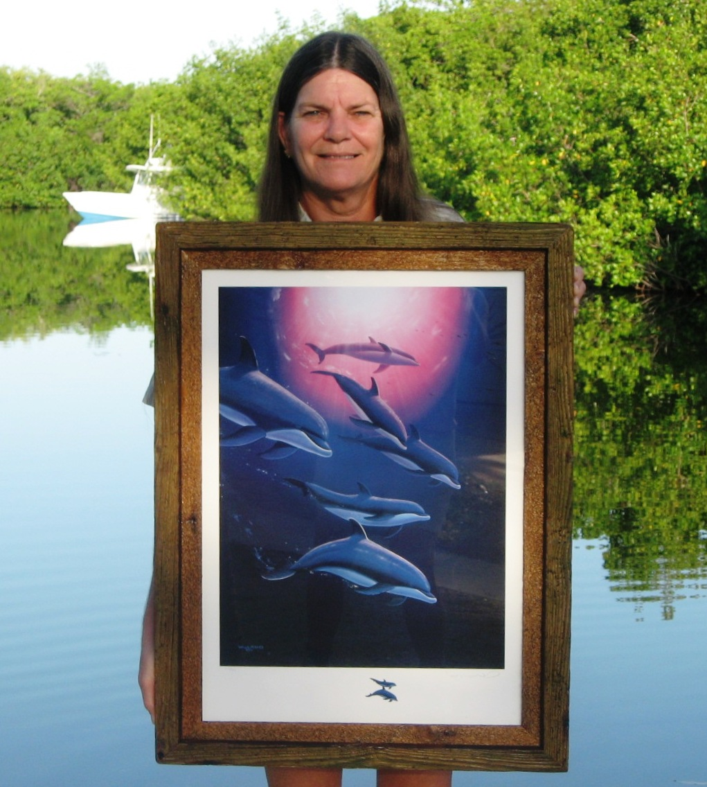 dolphin tribe 32 x 24 sold hand signed wremarque by wyland double frames