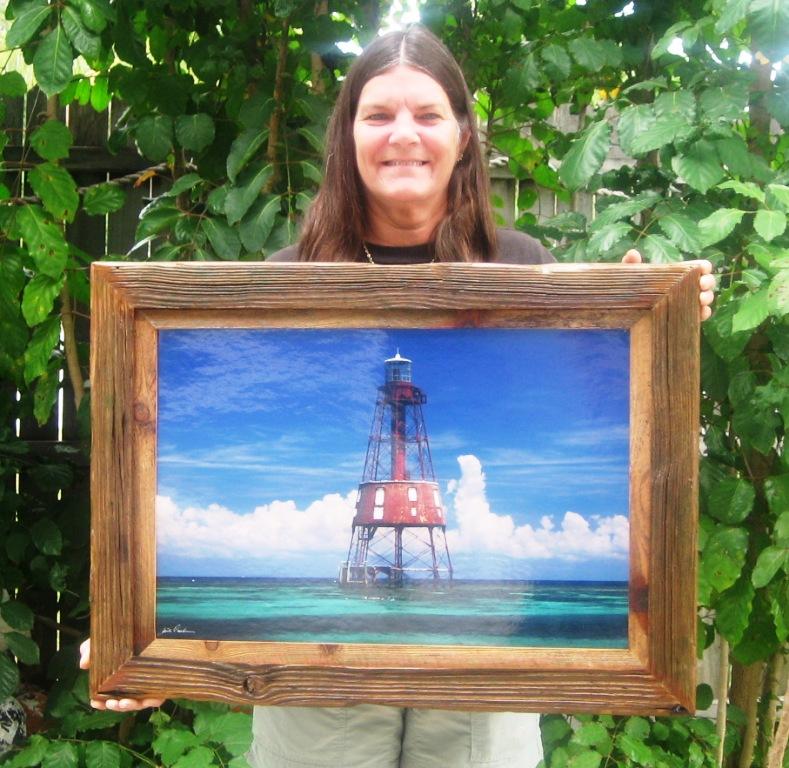 Handcrafted Driftwood Frames in Key Largo, Florida -